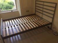 Double bed steel frame. Comes with a free mattress