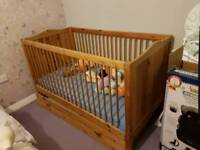 Large cot with drawer