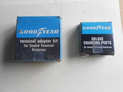 Terminal-adapter-kit (Vintage GOODYEAR Terminal Adapter Kit & Deluxe Charging Posts NOS Car Parts )