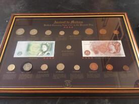 Framed coin set