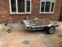 Custom built Braked Double Motorcycle trailer.1590W x 2203mm bed size,