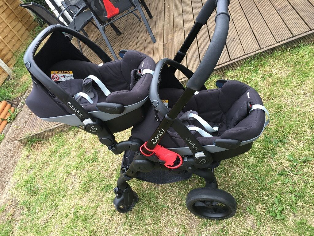 Icandy Peach Double With Car Seat