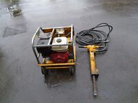 concrete jack hammer and power pack