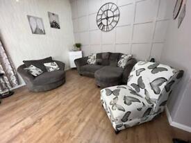 DFS Grey Corner Sofa Suite *Delivery*