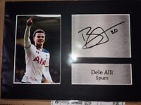 Dele Alli and Harry kane singed signatures