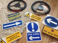 Traffic/road signs used for dispkay