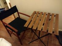 2 garden chairs and table, used for one summer only, in perfect condition!