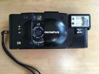 OLYMPUS XA3 with Olympus A11 dedicated flash
