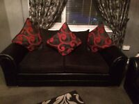 3 seater & 2 seater sofa and big puffy ex condition 4 sale