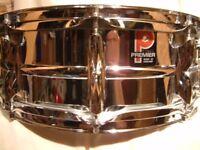 "Premier Model 35 alloy snare drum 14 x 5 1/2"" - Leicester '77 - Ground-breaking drum"