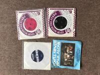4 single vinyl 45s