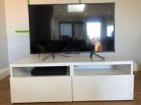 IKEA Besta TV Bench gloss white