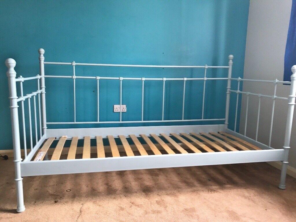 - Single Metal Bed Daybed Ikea Sofa Powder Blue In Birstall