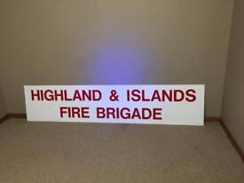 Collectible fire station sign .. large