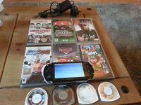 SONY PSP - WITH 10 GAMES AND MOVIES