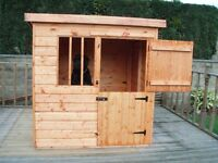 Deluxe Dog Kennel 4ft x 4ft fully T&G.