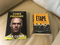 3 cycling books - Rouleur, subscriber edition - Chris Froome, The Climb and Richard Moore, Etape