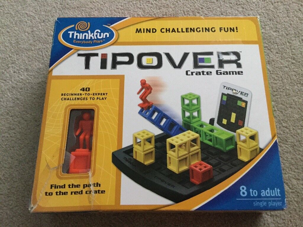 Thinkfun Tipover Crate Game Mind Challenging Fun ! New