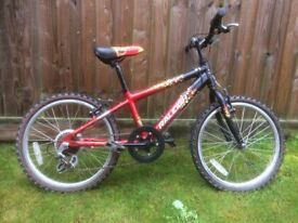 Raleigh Hot-Rod boys bicycle, in good working order, 6-speed Shimano grip-shift gears, good tyres.