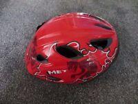 Met Red Diavolo Children's bike helmet size 52-57cm
