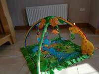 Fisher price rainforest melodies and lights deluxe baby play gym