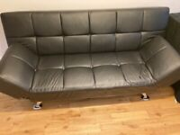 Leather Settee / Bed