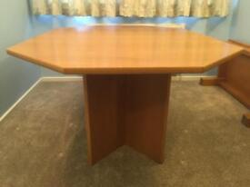 Octagonal Oak Extendable Dining Table