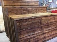 ❄️ Waneylap Pressure Treated High Quality Brown Wooden Garden Fence Panels