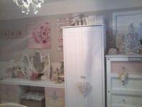 2 x Wardrobes plus large dressing table (Argos Scandinavia 2 door wardrobe & other vintage) £40 each
