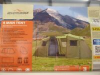 4 MAN TENT. An Aldi Special with two seperate sleeping areas and a stand up living area.