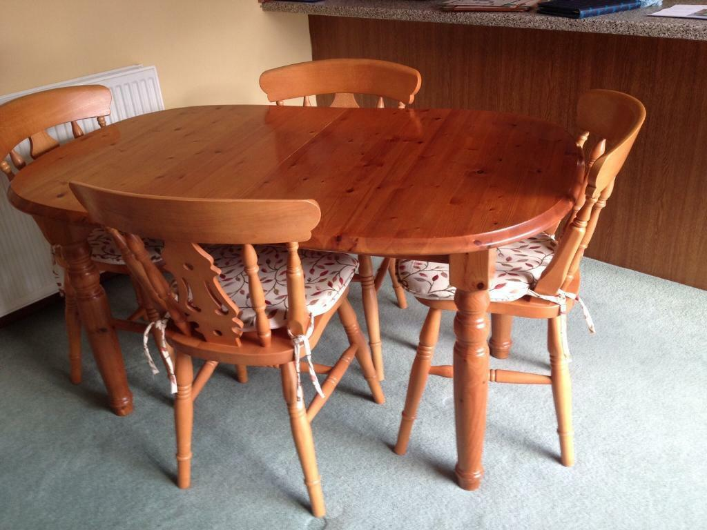 Pine Kitchen Dining Table With 6 Chairs In Banchory Aberdeenshire Gumtree