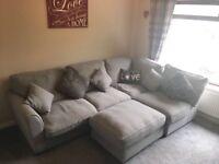 Corner sofa and puffet.