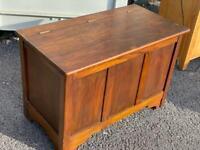 Victorian oak blanket box