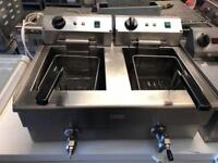 Commercial double tank electric fryer catering restaurant hotels pubs cafe equipment