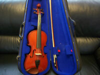 violin with case and bow in very good condition