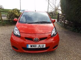 SUPERB 2011 TOYOTA AYGO VVT I-GO LIMITED EDITION SEMI-AUTO, SAT NAV TINTED REAR WINDOWS