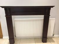 GREAT CONDITION Mahogany Style Fire Place Surround