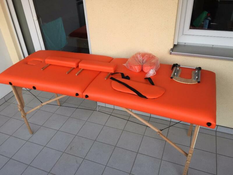 promafit mobile massageliege holz kassel 70 cm klappbar orange in bayern straubing ebay. Black Bedroom Furniture Sets. Home Design Ideas