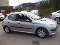 Peugeot 206 Fever,1124 cc 5 dr hatchback,clean tidy car,runs and drives well,cheap to tax and insure