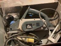 110 v planer, 1/2 inch router, jigsaw, 9 inch circular saw.