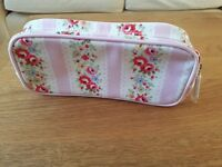 Cath Kidston make up bag with matching mirror - excellent condition, unwanted gift