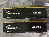 16gb 2666MHz DDR4 Ram HYPER X FURY