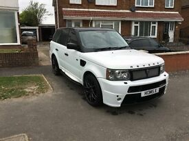 Range rover sport, revere london, kahn 4.4 v6 supercharged pearl white