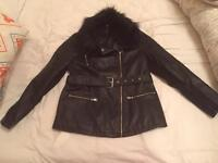 Leather jacket - size 14