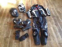 Alpinestars Jacket Jeans Gloves, SIDI Boots, Arai HJC Helmet