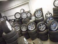 AUDI, BMW, FORD, MERCEDES, MINI, VW, VAUXHALL ALLOY WHEELS WITH TYRES