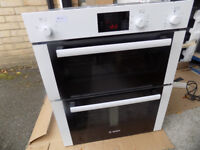 Bosch HBN13B221B Double Built-Under Electric Oven, White RRP £650 (B)