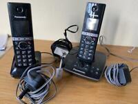 Pair of cordless Panasonic telephones KX-TG8061E