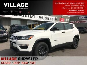 2017 Jeep Compass Sport|4X4|9spds Auto|Backup Cam|Bluetooth|Remo