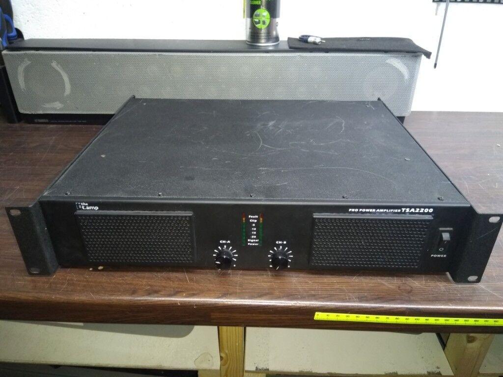 Studiomaster 700d Power Amplifier 45w Include Tone Control T Amp Tsa2200